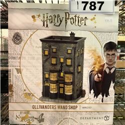 NEW IN BOX HARRY POTTER OLLIVANDERS WAND SHOP DISPLAY FIGURE