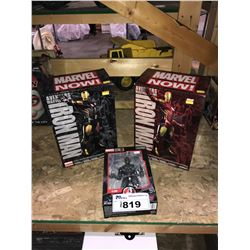 3 NEW IN PACKAGING TOYS: 2 IRON MANS & ULTRON