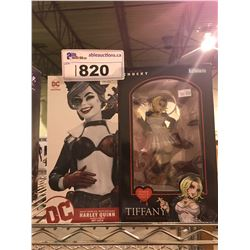 2 NEW IN BOX FIGURES: HARLEY QUINN & TIFFANY (BRIDE OF CHUCKY)
