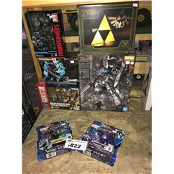 6 NEW IN PACKAGING/BOX TRANSFORMER TOYS & TRIFORCE LIGHT