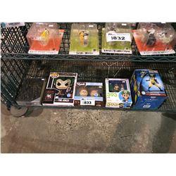 5 NEW IN PACKAGING/BOX PRODUCTS: WALT DISNEY BOOK, LUIGI TOY, FUNKO POP + TSHIRT, & WOLVERINE