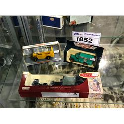 3 NEW IN PACKAGING TOY CARS (TRACKS, DINKY, DAYS GONE VANGUARDS)