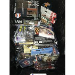 ASSORTED NEW IN PACKAGING TOY CARS, GAS STATION, (GREENLIGHT) (BIN NOT INCLUDED)