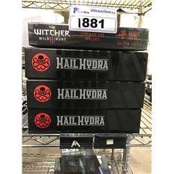 3 SEALED HAIL HYDRA GAMES & NEW IN PACKAGING THE WITCHER 1000PC PUZZLE
