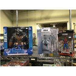 3 NEW IN PACKAGING TOYS: SPIDER-MAN, KINGDOM HEARTS, TROLL HUNTERS