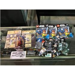 BOX OF ASSORTED NEW IN PACKAGING PRODUCTS: LEGO STAR WARS MAGAZINES, MUNCHKIN BOXES OF HOLDINGS,