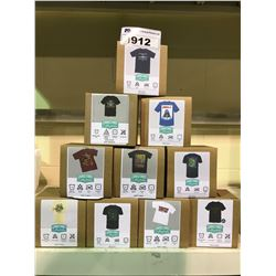 10 NEW IN BOX GRAPHIC TOPS ALL SIZE MEDIUM