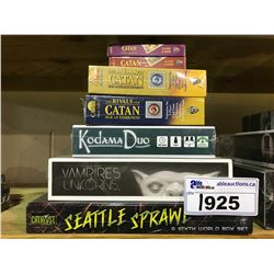 6 NEW IN PACKAGING GAMES & 1 NOT IN PACKAGING: CATAN CARD GAME, RIVALS OF CATAN, KODAMA DUO,
