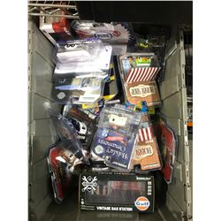 BIN OF GREENLIGHT & ASSORTED MODEL CARS (BIN NOT INCLUDED)
