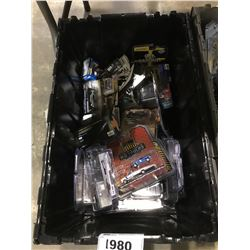 BIN OF GREENLIGHT, HOTWHEELS & ASSORTED MODEL CARS (BIN NOT INCLUDED)