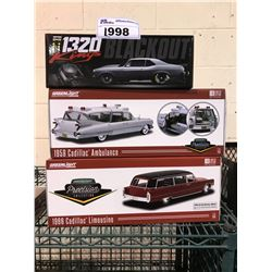 1320 KINGS BLACKOUT 1969 CHEVROLET NOVA, GREENLIGHT 1959 CADILLAC AMBULANCE, GREENLIGHT 1966