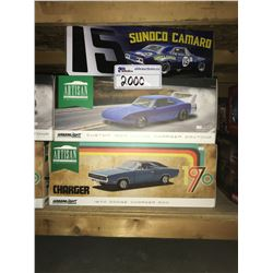 GMP SUNOCO 1967 CHEVROLET CAMARO, GREENLIGHT ARTISAN CUSTOM 1969 DODGE CHARGER DAYTONA, GREENLIGHT