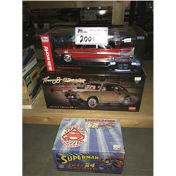 AUTO WORLD 1958 PLYMOUTH FURY, SUN STAR HENRY GASSER CAR, DU PONT SUPERMAN JEFF GORDON MODEL CARS