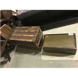 2 LARGE STORAGE CHESTS