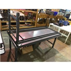 2 LARGE METAL TABLES