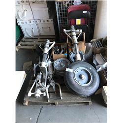 PALLET OF AIRPLANE LANDING PARTS/PIECES