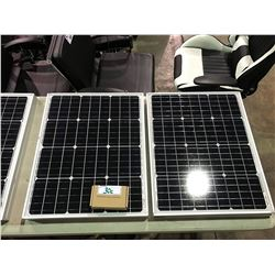 2 PWM SOLAR PANELS WITH SOLAR CHARGE CONTROLLER MONO 50WATTS