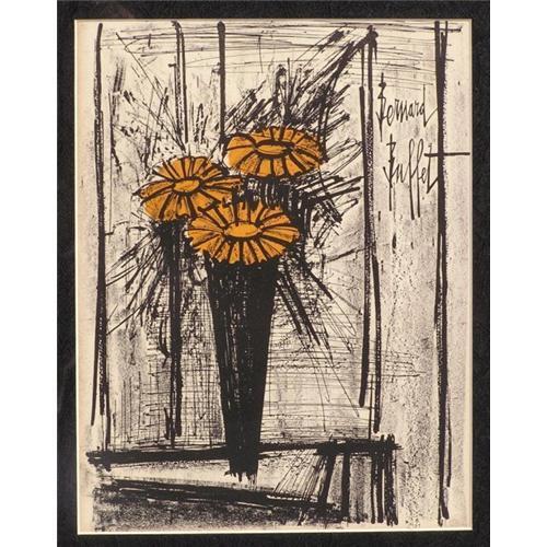Peachy Bernard Buffet Signed Lithograph Sunflowers 1319314 Download Free Architecture Designs Remcamadebymaigaardcom