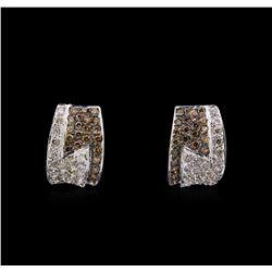 14KT White Gold 1.45 ctw Diamond Earrings