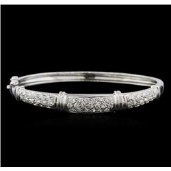 14KT White Gold 2.30 ctw Diamond Bangle Bracelet