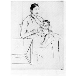 Mary Cassatt - Nursing