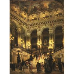 Jean Beraud Lobby Of Paris Opera