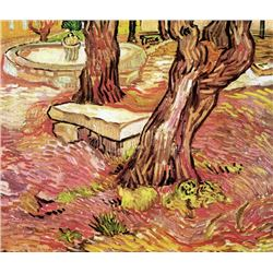 Van Gogh - The Stone Bench In The Garden Of Saint-Paul Hospital