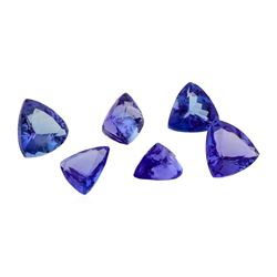 12.70 ctw. Natural Mixed Cut Tanzanite Parcel of Six