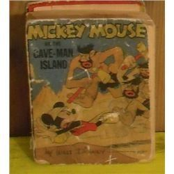 1944 So very old little big book Mickey Mouse on the Cave-Man Island - petit gros livre