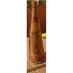 Collector's Exraordinaire hand-made horn 2 colours bark -corne 2 couleurs en écorces pour collection