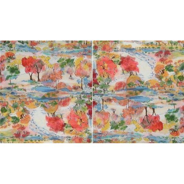 Panoramas d'Automne peinture créée par LangdonArt - Fall Panoramas painting created by LangdonArt