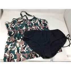 Camouflage Bathing Suit Top and Bottom XXL