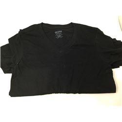 Gildan Black V-Neck Tees (5) Small