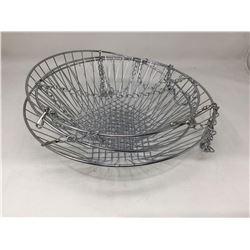 Nickel Hanging Basket Set
