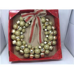 18in Jingle Bell Wreath with Bow