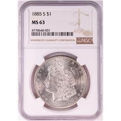1885-S $1 Morgan Silver Dollar Coin NGC MS63
