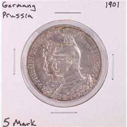 1901 Germany Prussia 5 Mark Silver Coin