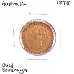 1878 Australia Sovereign Gold Coin