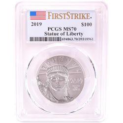 2019 $100 Platinum American Eagle Coin PCGS MS70