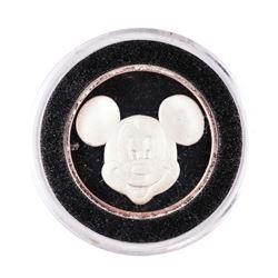 "Rarities Mint Disney Mickey ""Be Happy"" 1/4 oz. .999 Fine Silver Round"