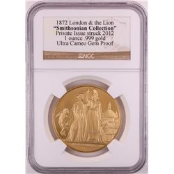 """2012 London & the Lion """"Smithsonian Collection"""" Gold Medal NGC Ultra Cameo Gem Proof"""