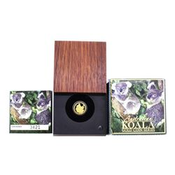2008 $15 Australia Koala 1/10 oz Gold Coin with Box & COA