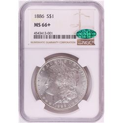 1886 $1 Morgan Silver Dollar Coin NGC MS66+ CAC