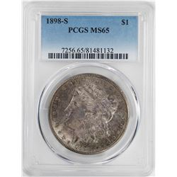 1898-S $1 Morgan Silver Dollar Coin PCGS MS65
