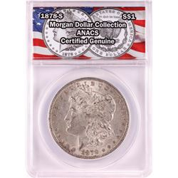 1878-S $1 Morgan Silver Dollar Coin ANACS Genuine