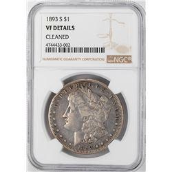 1893-S $1 Morgan Silver Dollar Coin NGC VF Details