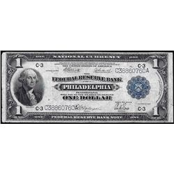 1918 $1 Federal Reserve Bank of Philadelphia Note