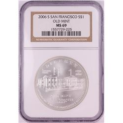 2006-S $1 San Francisco Old Mint Commemorative Silver Dollar Coin NGC MS69