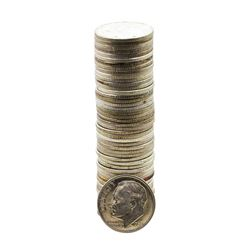 Roll of (50) Brilliant Uncirculated 1952-D Roosevelt Dime Coins