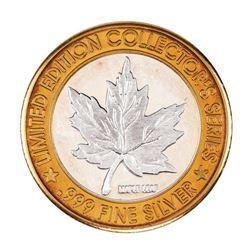 .999 Silver Casino Windsor Ontario, Canada $20 Casino Limited Edition Gaming Token